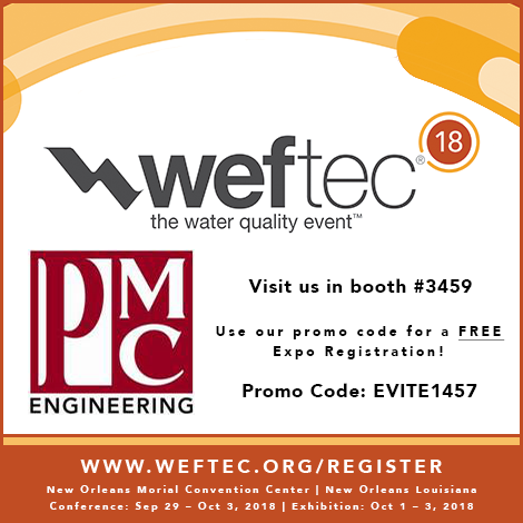 PMC Engineering at WEFTEC 2018
